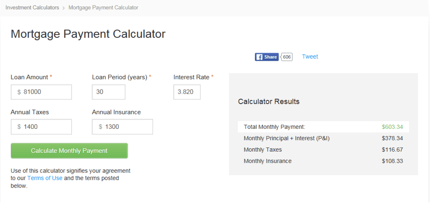 Bigger Pockets Mortgage Payment Calculator for real estate analysis