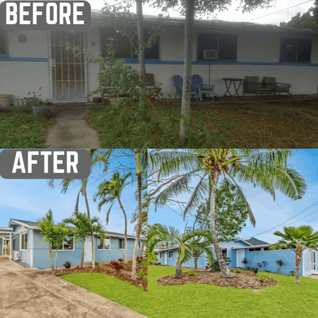Before and After Oahu flip