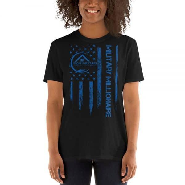 product mockup tshirt blue letters