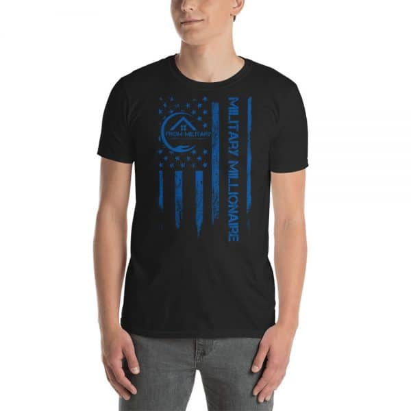 product mockup tshirt blue letters male