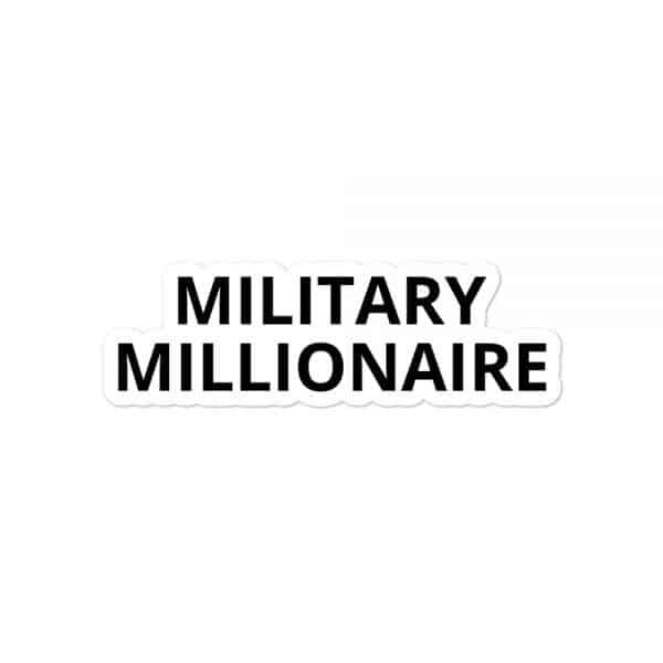 Military Millionaire sticker mockup