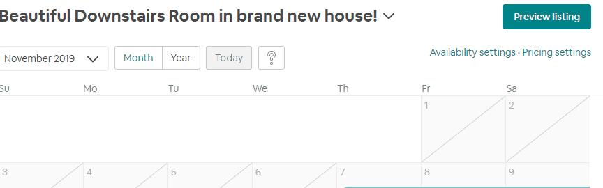Airbnb calendar sync