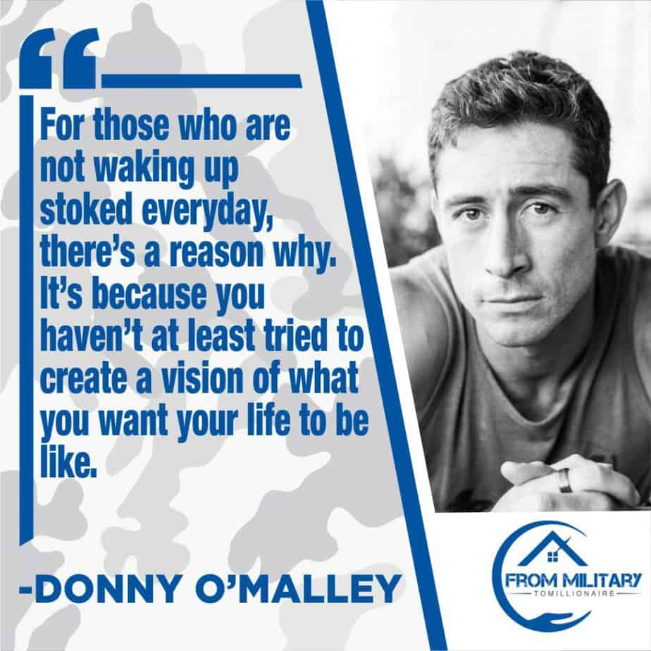 Donny O'Malley quote about vision