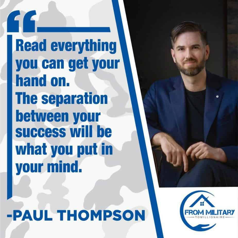 Paul David Thompson quote about reading