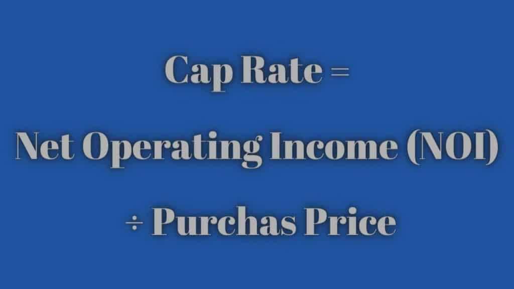 what is a cap rate in real estate - cap rate formula