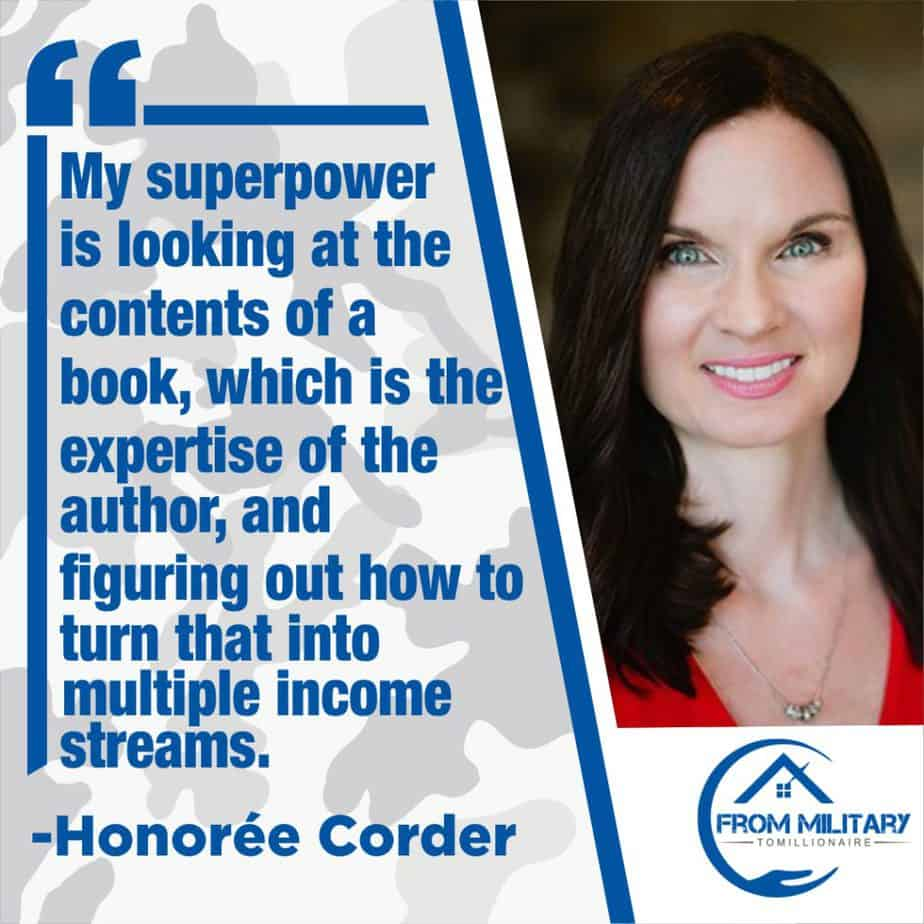 Honoree Corder quote about income streams