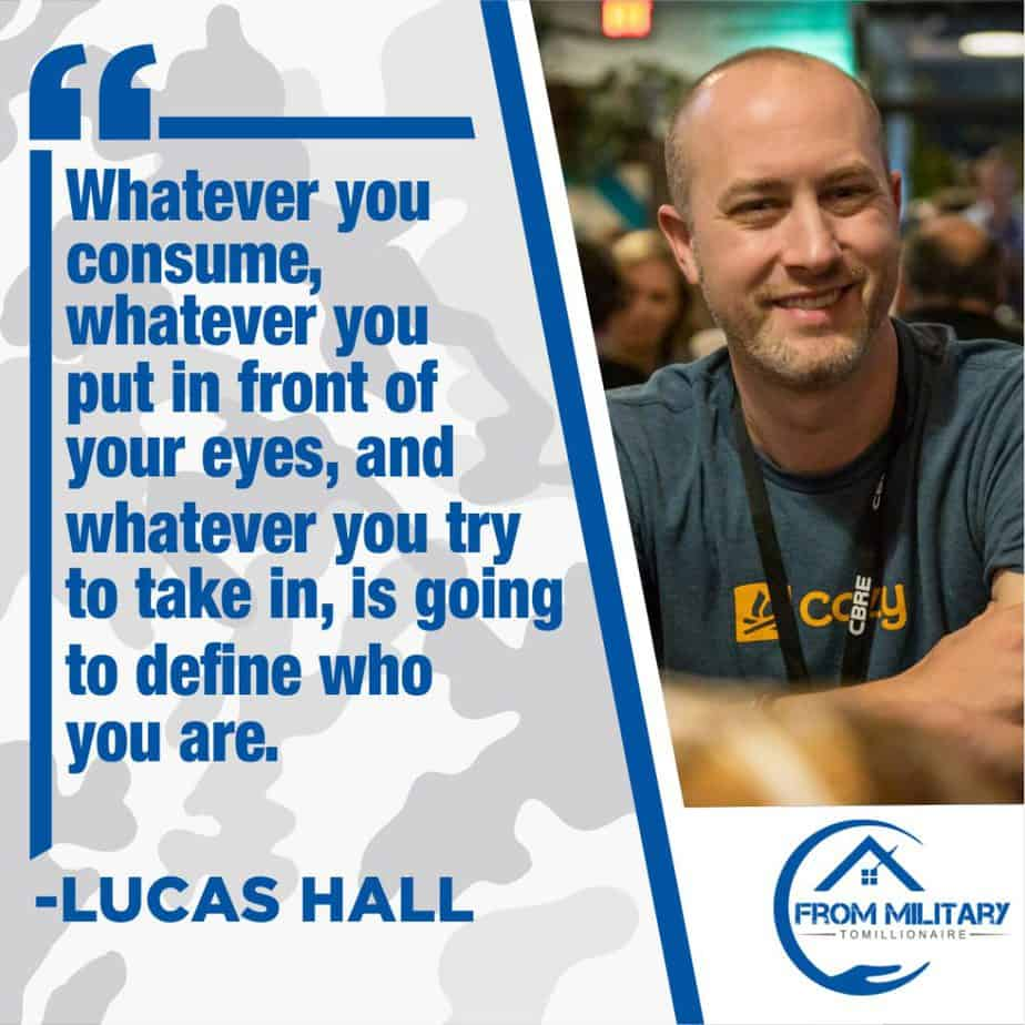 Lucas Hall quote about the content we consume