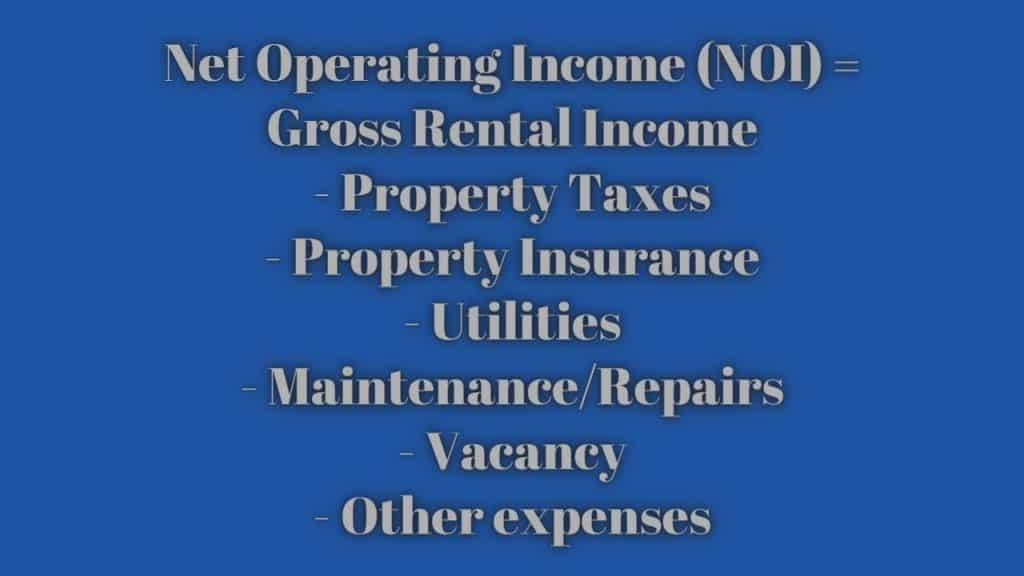 Net Operating Income (NOI) formula