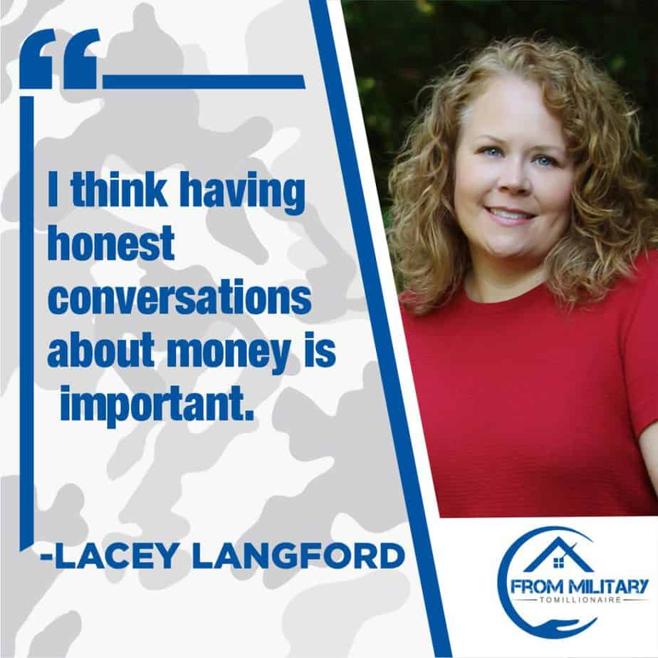 Lacey Langford quote about money conversations