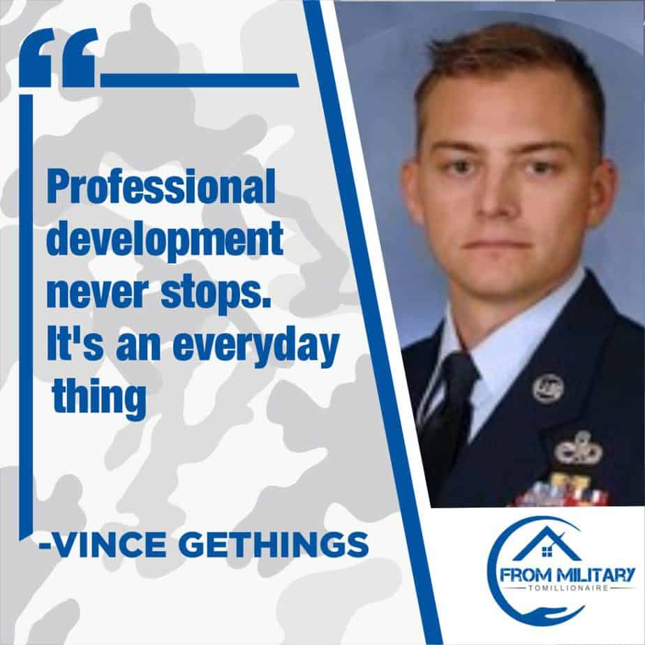 Vince Gethings Quote from about professional developmentst