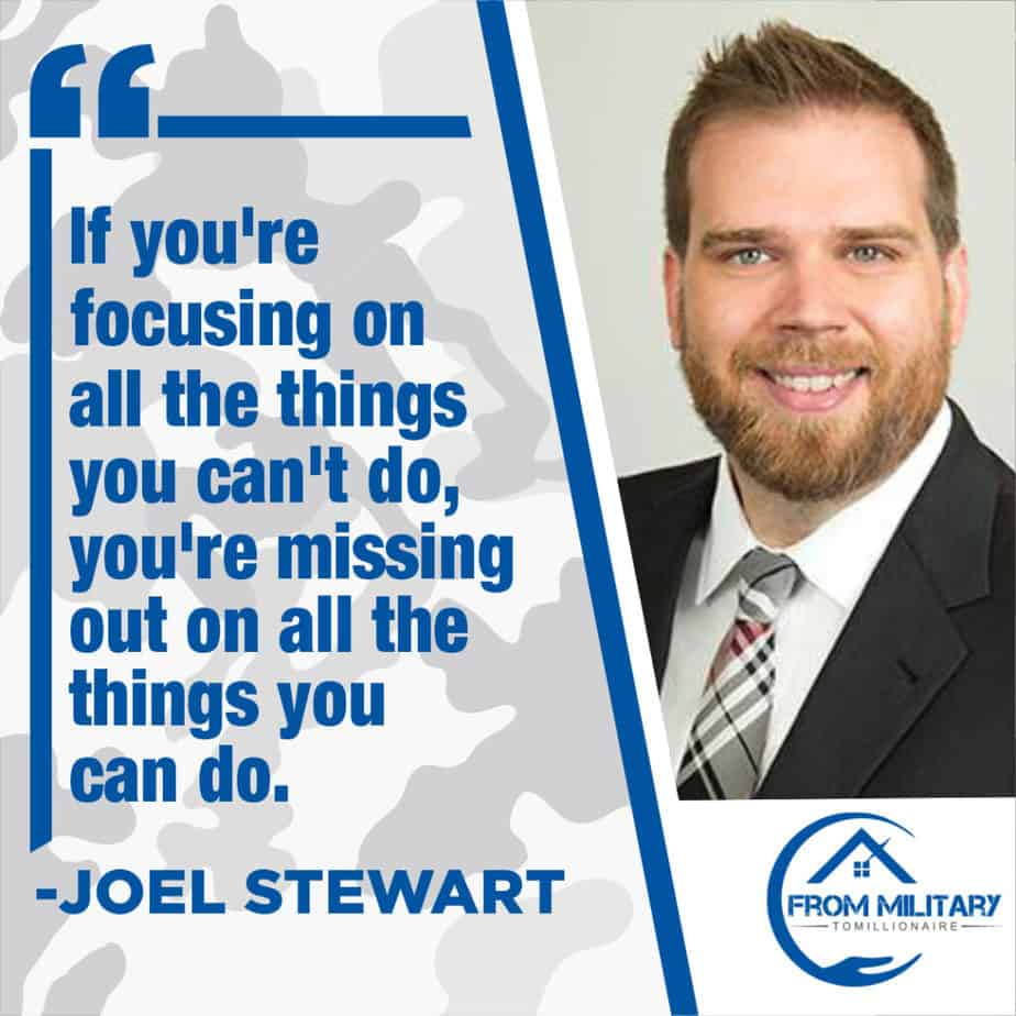 Joel Stewart Quote about Focusing on what you can do