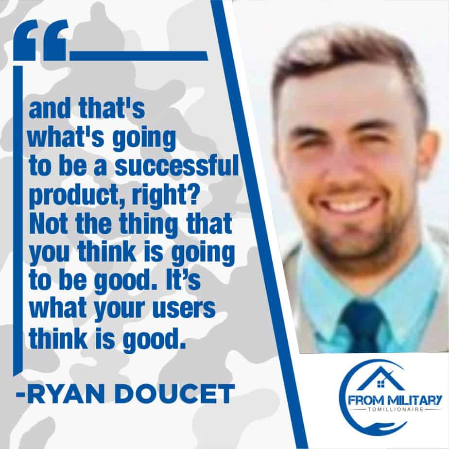 Ryan Doucet quote about being successful!