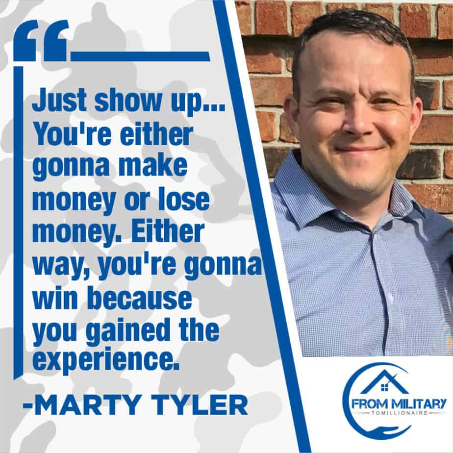 Marty Tyler quote about showing up