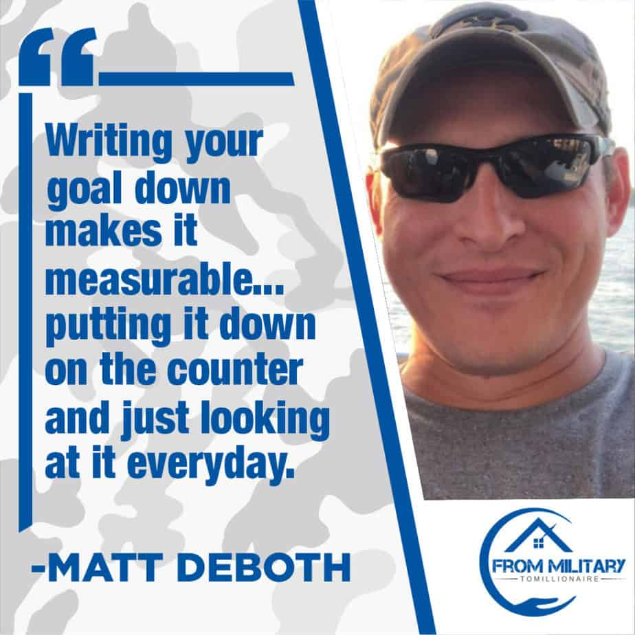 Matt Deboth quote about goals