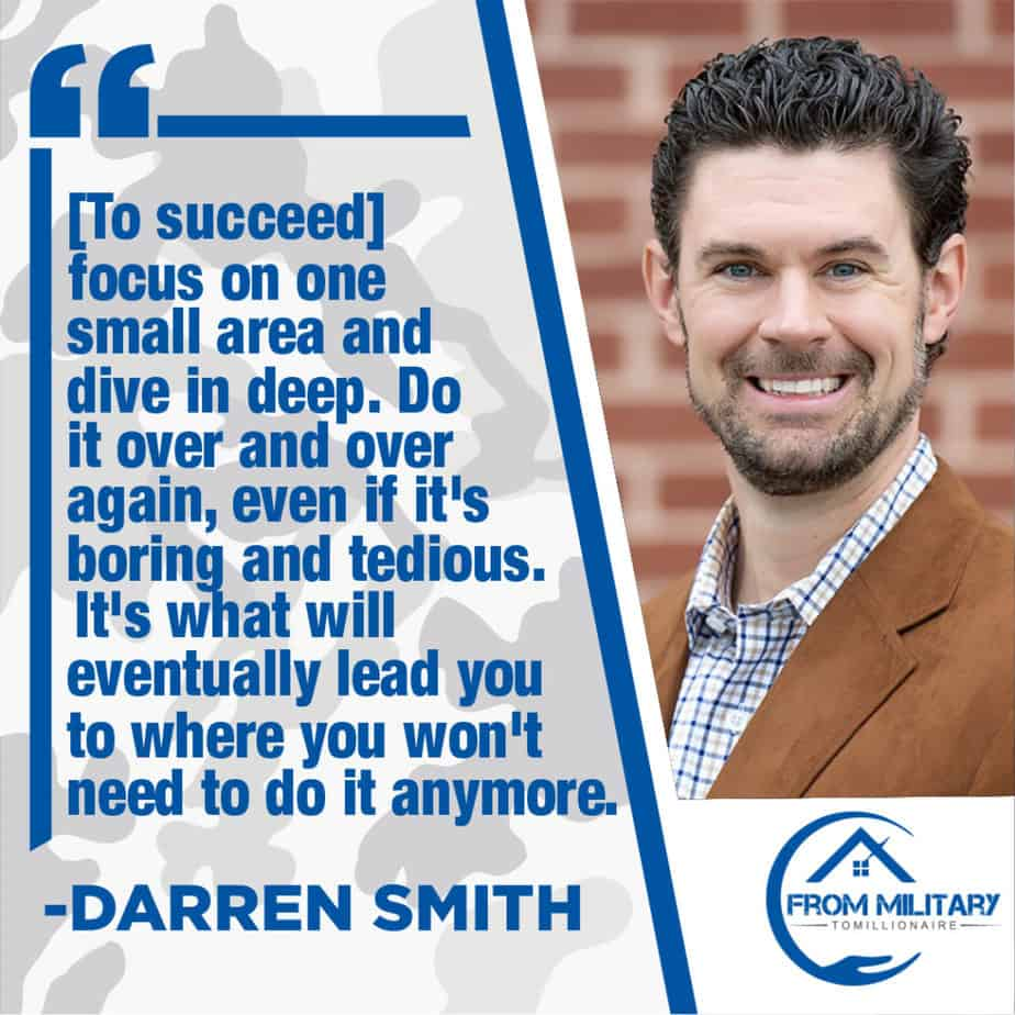 Darren Smith quote about focusing
