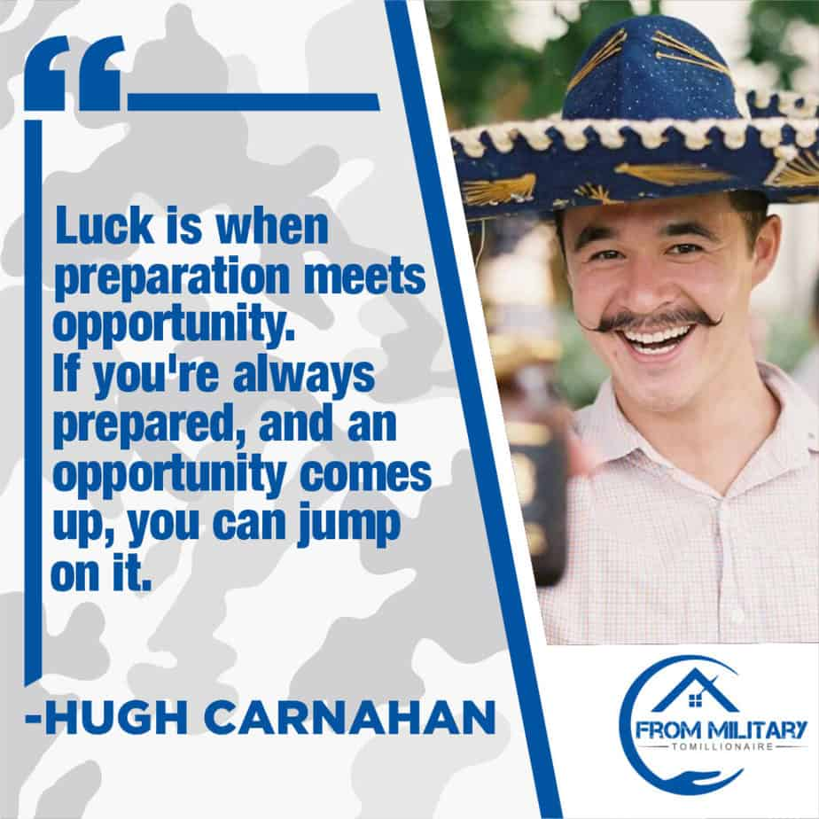 Hugh Carnahan quote about luck