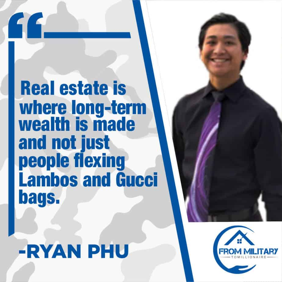 Ryan Phu quote about real estate investing