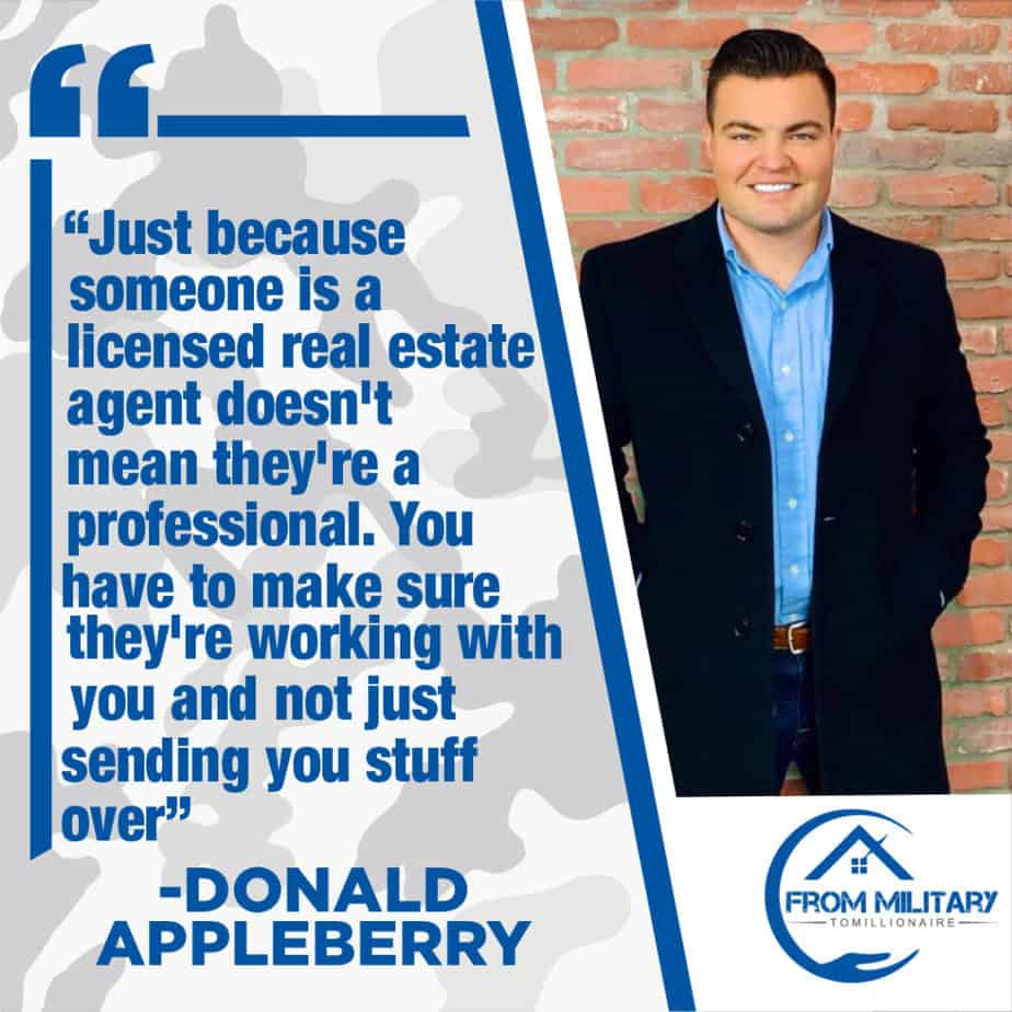 Donald Appleberry quote about real estate agents!